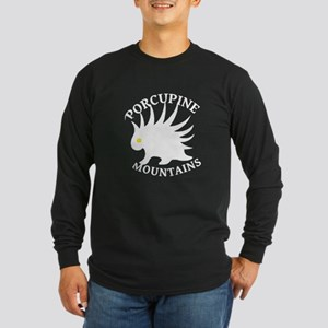 Porcupine Mountains Long Sleeve Dark T-Shirt