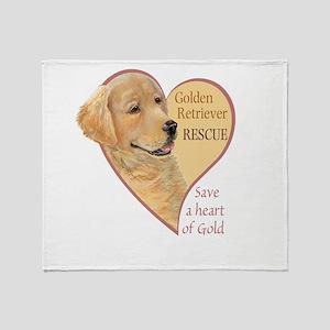 Golden Retriever RESCUE Throw Blanket