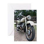Vintage Motorcycle Greeting Card