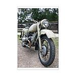 Vintage Motorcycle Mini Poster Print