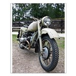 Vintage Motorcycle Small Poster