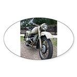 Vintage Motorcycle Sticker (Oval)
