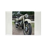 Vintage Motorcycle Rectangle Magnet (10 pack)
