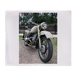 Vintage Motorcycle Throw Blanket