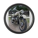 Vintage Motorcycle Large Wall Clock