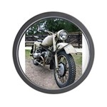 Vintage Motorcycle Wall Clock