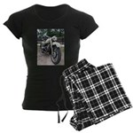 Vintage Motorcycle Women's Dark Pajamas