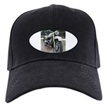 Vintage Motorcycle Black Cap