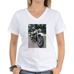 Vintage Motorcycle Women's V-Neck T-Shirt