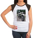 Vintage Motorcycle Women's Cap Sleeve T-Shirt