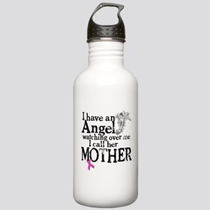Breast Cancer Mother Angel Stainless Water Bottle