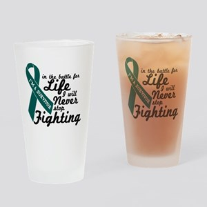 Ovarian Cancer Survivor Drinking Glass