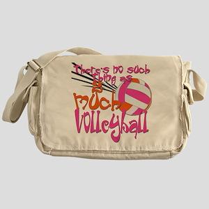2 much Volleyball Messenger Bag
