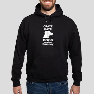 Dogs Against Mitt Romney Crate Gate Hoodie (dark)