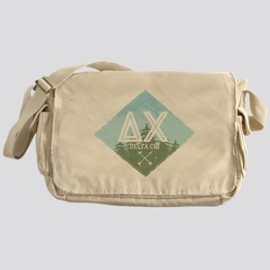 Delta Chi Mountains Diamond Blue Messenger Bag