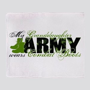 Granddaughter Combat Boots - ARMY Throw Blanket