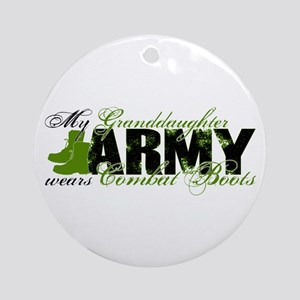 Granddaughter Combat Boots - ARMY Ornament (Round)