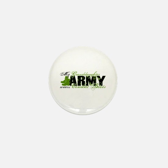 Granddaughter Combat Boots - ARMY Mini Button