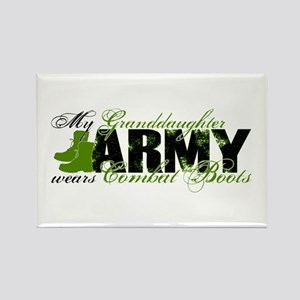 Granddaughter Combat Boots - ARMY Rectangle Magnet