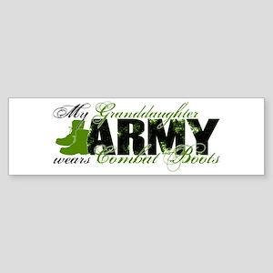 Granddaughter Combat Boots - ARMY Sticker (Bumper)