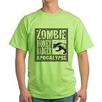 Zombie Honey Badger Green T-Shirt