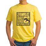 Zombie Honey Badger Yellow T-Shirt