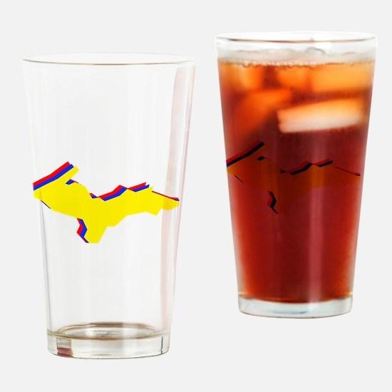 Retro U.P. Rainbow Yooper Drinking Glass
