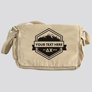 Delta Chi Mountains Ribbon Personali Messenger Bag