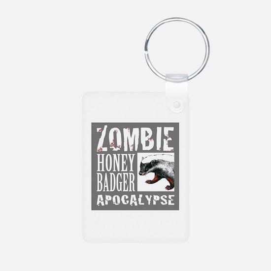 Zombie Honey Badger Keychains