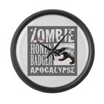 Zombie Honey Badger Large Wall Clock