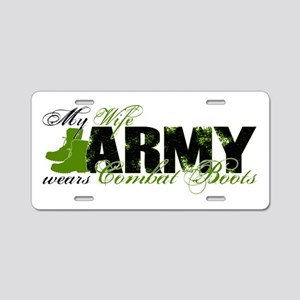 Wife Combat Boots - ARMY Aluminum License Plate