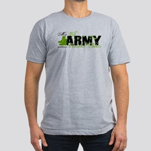 Wife Combat Boots - ARMY Men's Fitted T-Shirt (dar