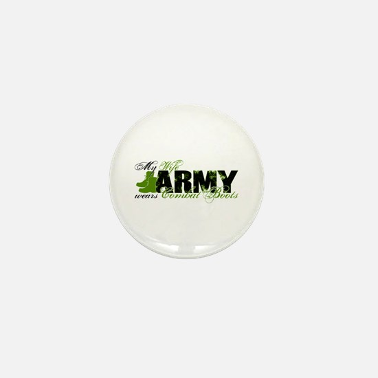Wife Combat Boots - ARMY Mini Button