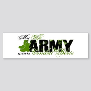 Wife Combat Boots - ARMY Sticker (Bumper)