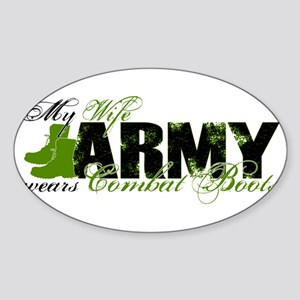 Wife Combat Boots - ARMY Sticker (Oval)