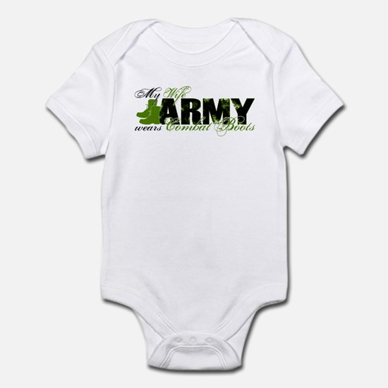 Wife Combat Boots - ARMY Infant Bodysuit