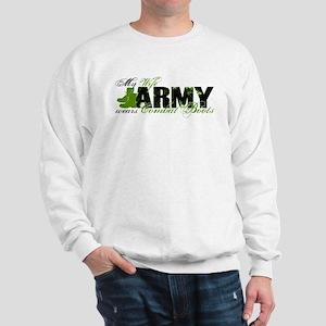 Wife Combat Boots - ARMY Sweatshirt