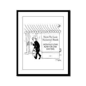 Next to Last National Bank Framed Panel Print