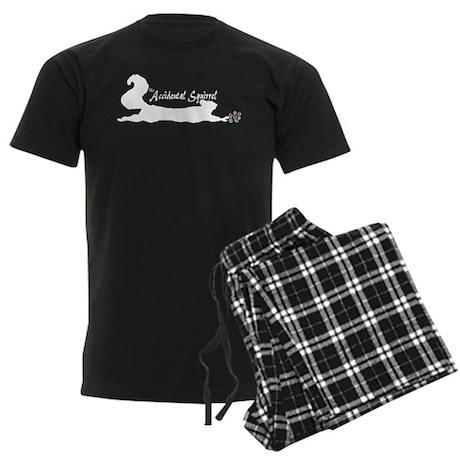 Accidental Squirrel Logo (whi Men's Dark Pajamas