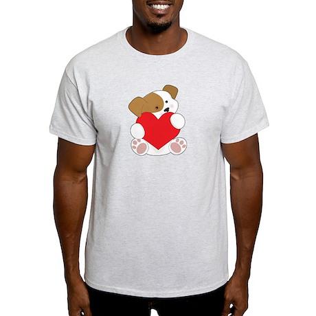 Cute Puppy Valentine Light T-Shirt