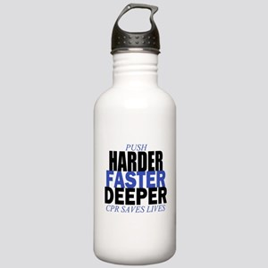 Harder Faster Deeper Stainless Water Bottle 1.0L