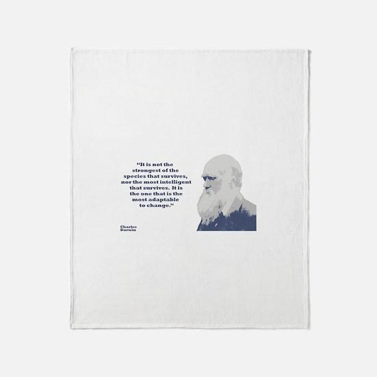 Darwin - Species Throw Blanket