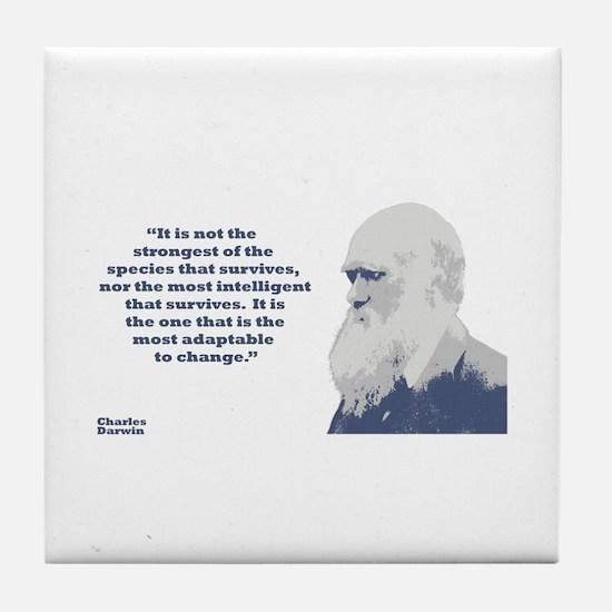 Darwin - Species Tile Coaster