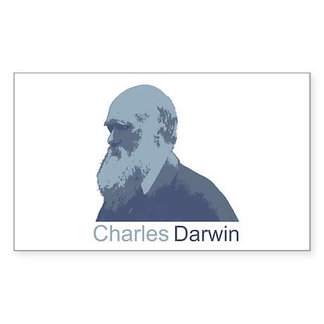 Charles Darwin Sticker (Rectangle)