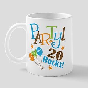 20 Rocks 20th Birthday Mug