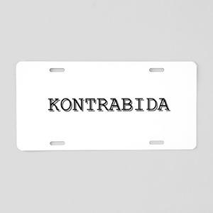 Kontrabida Aluminum License Plate