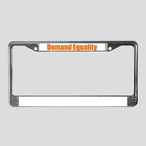 Demand Equality License Plate Frame
