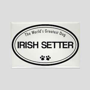 World's Greatest Irish Setter Rectangle Magnet