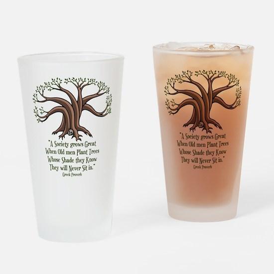 Greek Trees Drinking Glass