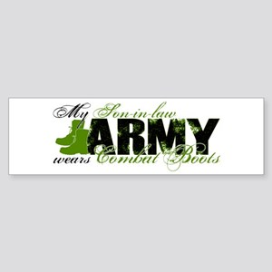 Son Law Combat Boots - ARMY Sticker (Bumper)